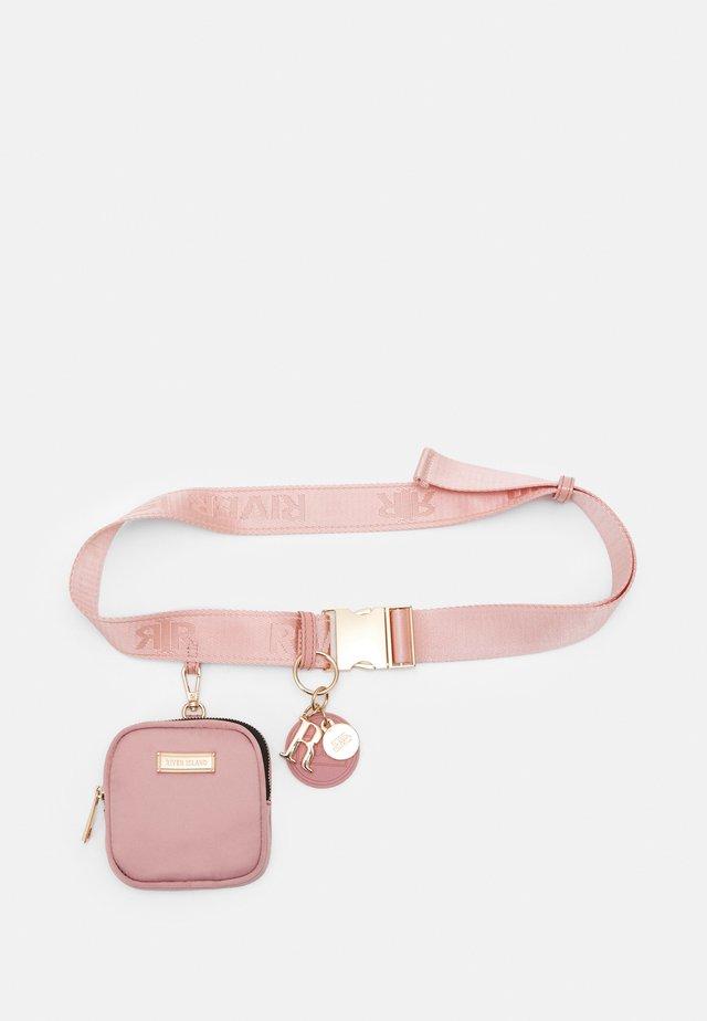STRAP CLIP PURSE BELT - Pasek - pink