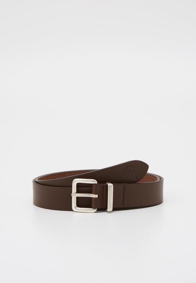 LOGO BELT - Pásek - dark brown