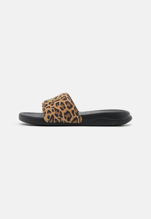 POPCAT LEO - Pantofle - black/gold