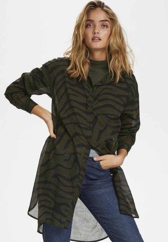 DHZACHA  - Button-down blouse - black zebra print
