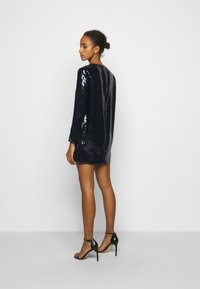 Victoria Victoria Beckham - SEQUIN OVERLAY MINI DRESS - Sukienka koktajlowa - midnight blue - 2