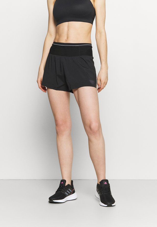 DNA SPLIT SHORTS - Pantaloncini sportivi - black out