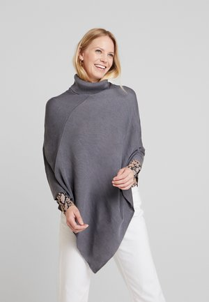 Poncho - mottled dark grey