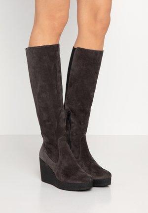 MICRO - High heeled boots - asphalt