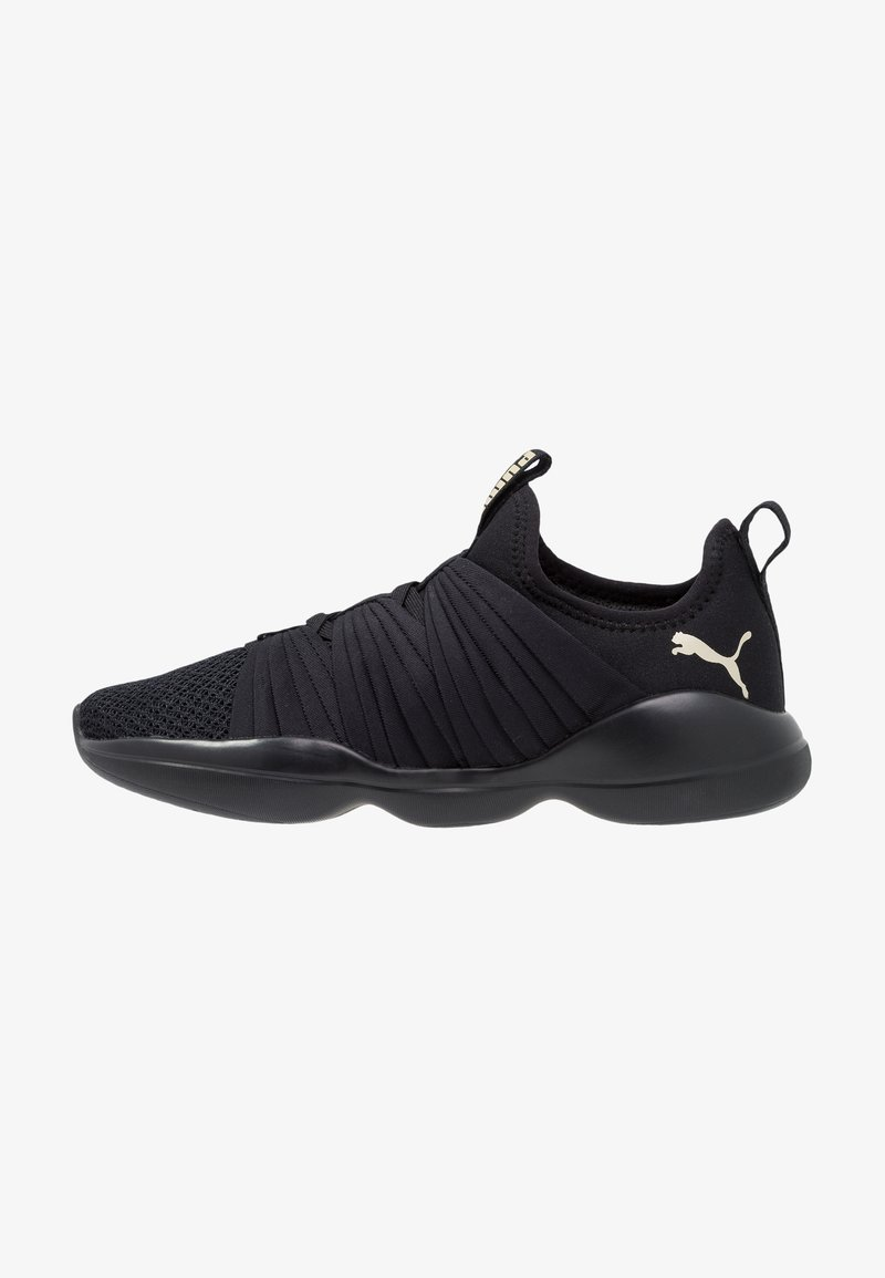Puma - FLOURISH - Obuwie treningowe - black/metallic gold
