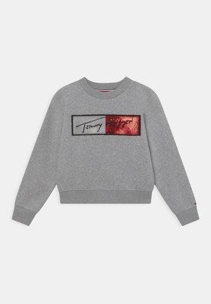 SEQUINS FLAG - Sweatshirt - light grey heather