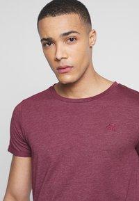 TOM TAILOR DENIM - LONG BASIC WITH LOGO - T-Shirt basic - deep burgundy melange - 3