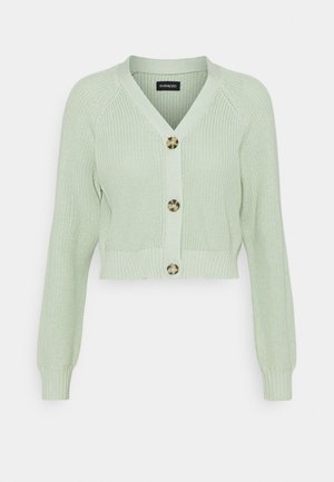 CROPPED CARDIGAN - Vest - light green