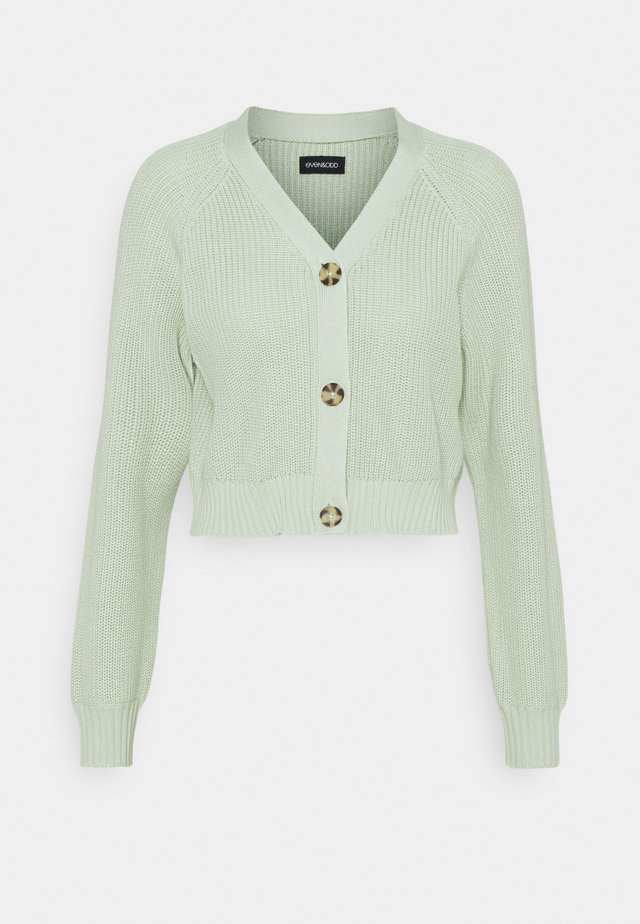 CROPPED CARDIGAN - Cardigan - light green
