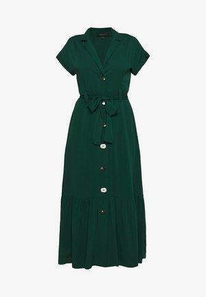 SHIRT STYLE MIDI DRESS WITH BELT - Shirt dress - bottle