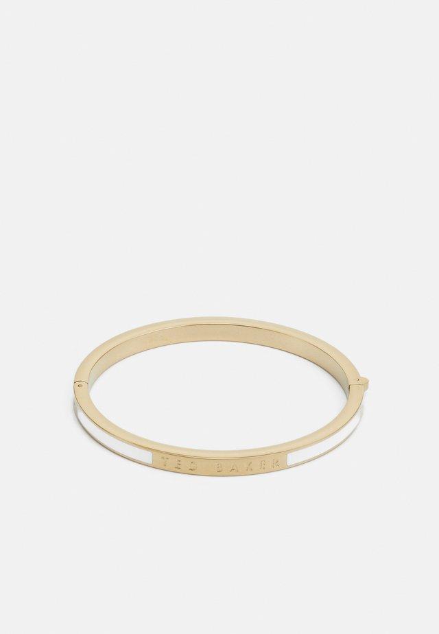 ELEMARA HINGE BANGLE - Bracciale - gold-coloured/white