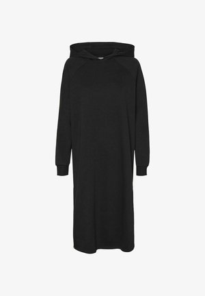LONGLINE SWEAT - Day dress - black