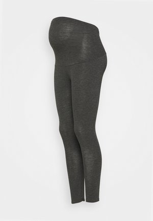 OVERBUMP LEGGINGS - Leggings - grey marl