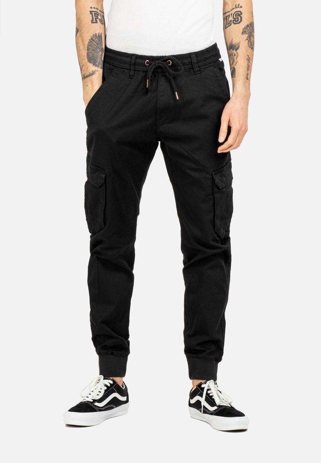 REFLEX RIB CARGO - Cargo trousers - black