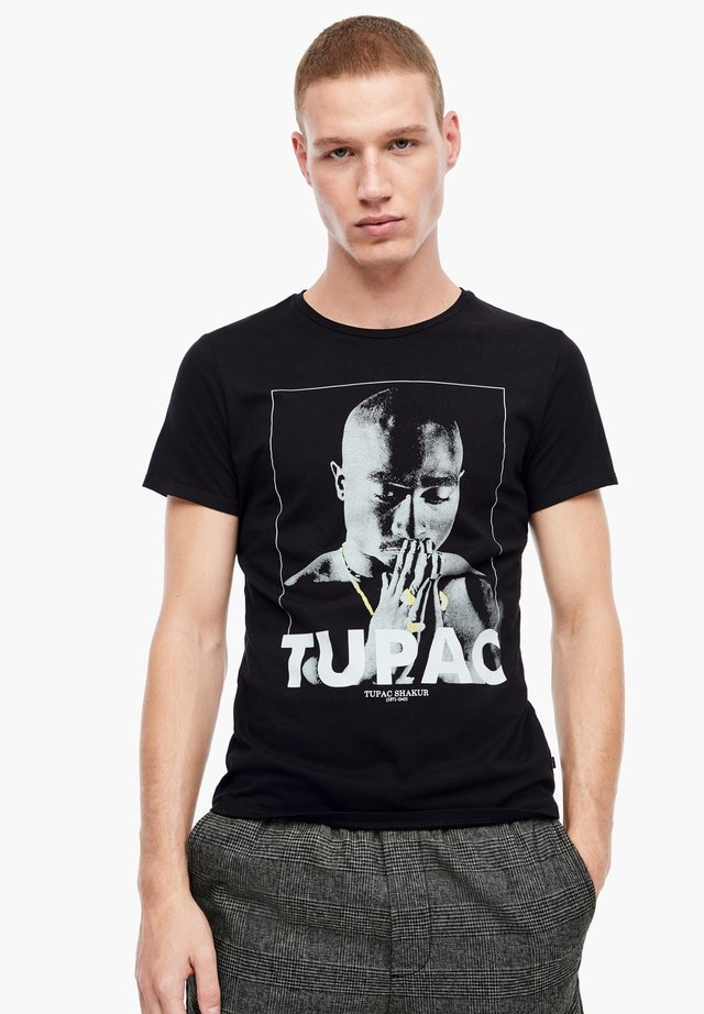 MIT 2PAC-FOTOPRINT - Print T-shirt - black tupac