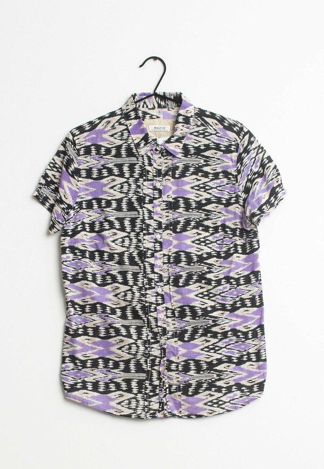 Overhemdblouse - purple/black/beige