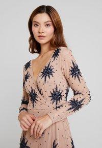 Maya Deluxe - STAR EMBELLISHED WRAP DRESS - Occasion wear - blush/navy - 4