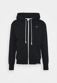 Nike Performance - ISSUE HOODIE - Zip-up sweatshirt - black/pale ivory - 5