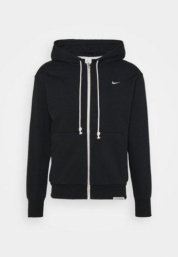 ISSUE HOODIE - Zip-up sweatshirt - black/pale ivory