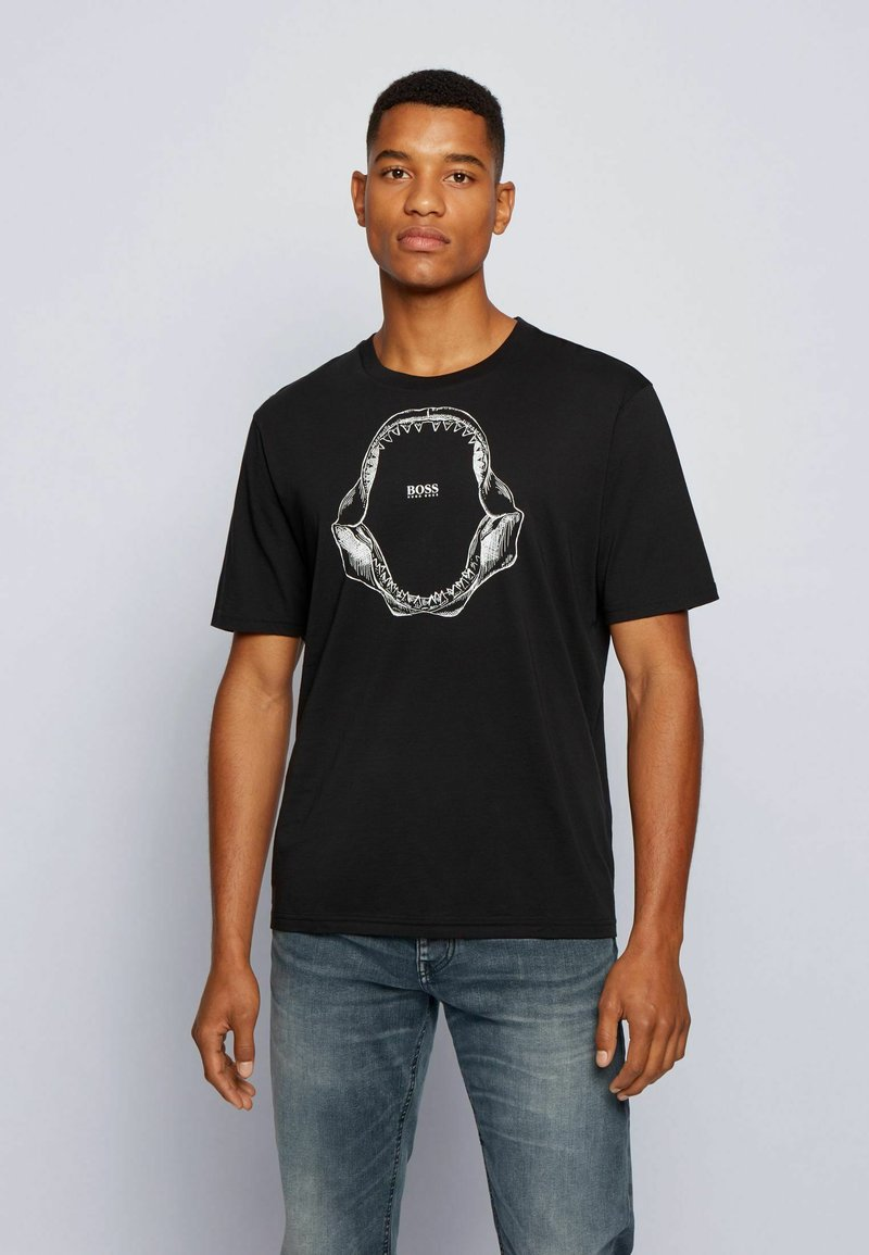 BOSS - TIMA - T-shirt med print - black