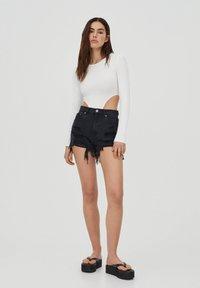 PULL&BEAR - Denim shorts - black - 1