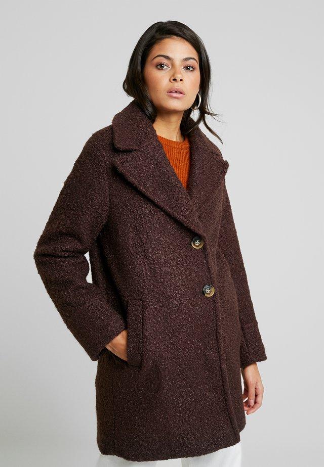 ONE BUTTON COAT - Zimní kabát - fudge