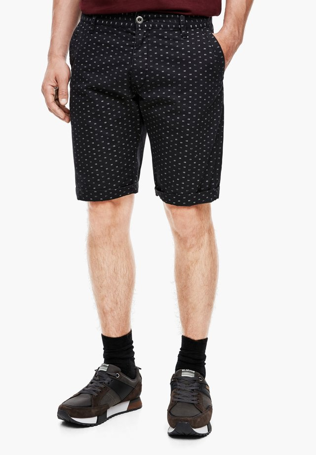 MIT PRINT - Shorts - dark grey