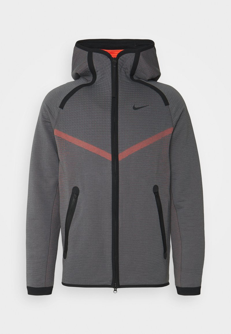 Nike Sportswear - HOODIE  - Sudadera con cremallera - dark grey/turf orange/black