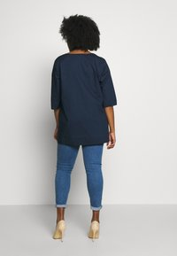 MY TRUE ME TOM TAILOR - LOOSE FIT BLOUSE PLEAT - Bluser - real navy blue - 2