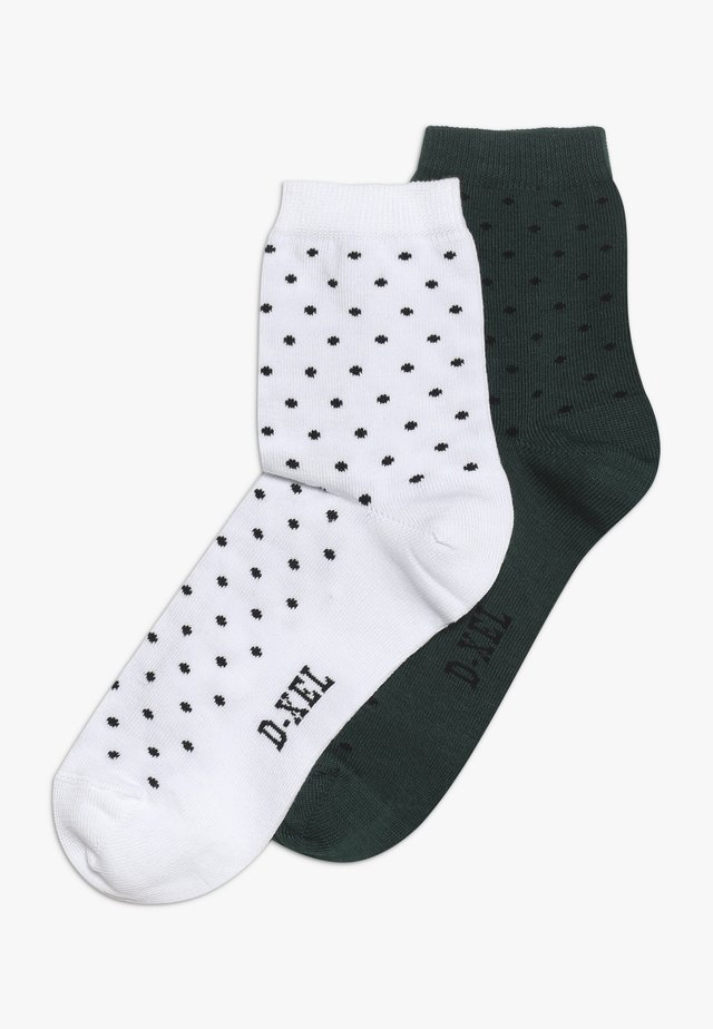 SOCKS 2 PACK - Sukat - bug green/white