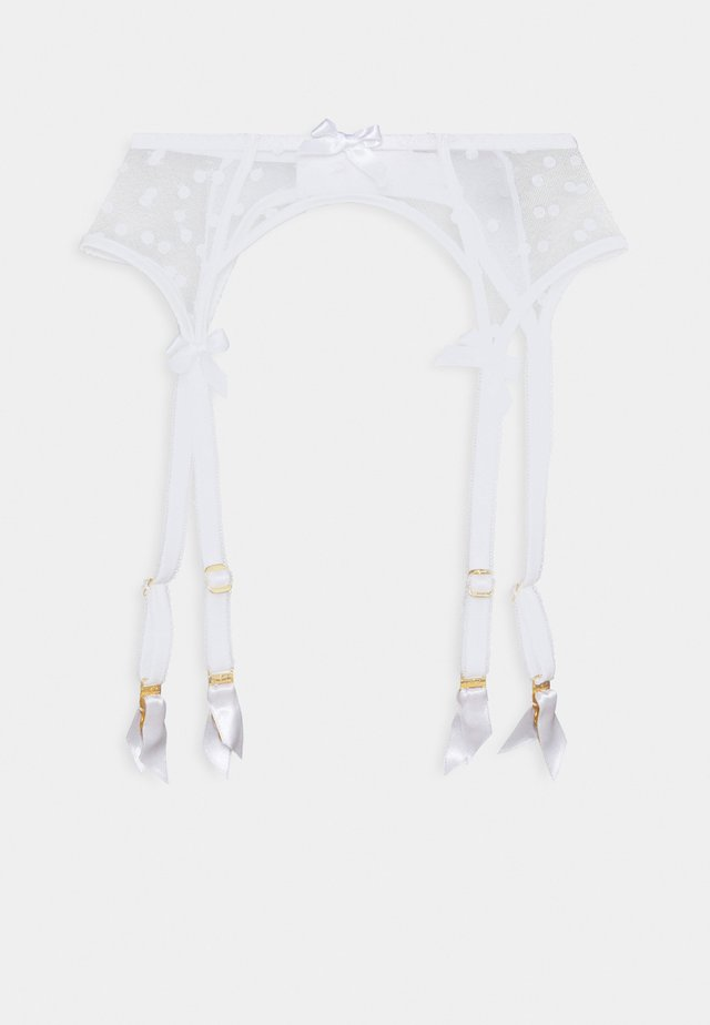 BRIE SUSPENDER - Jarretels - white