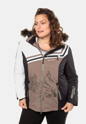 Winter jacket - brown, white, black