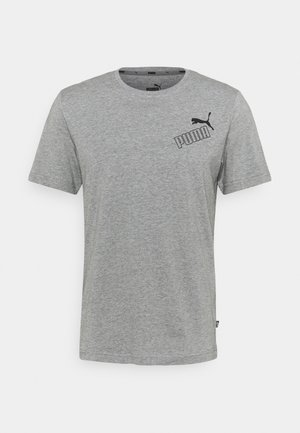 AMPLIFIED TEE - Camiseta estampada - medium gray heather