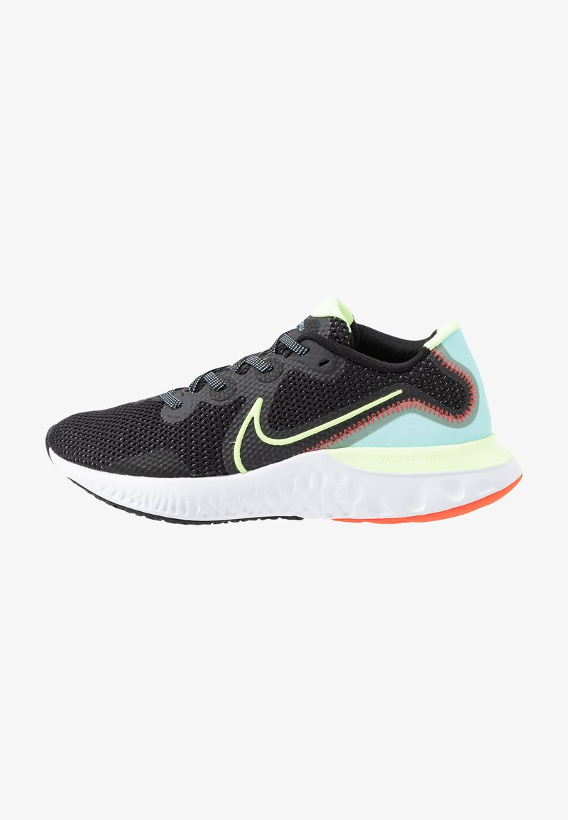 Nike Performance - RENEW RUN - Obuwie do biegania treningowe - black/barely volt/glacier ice