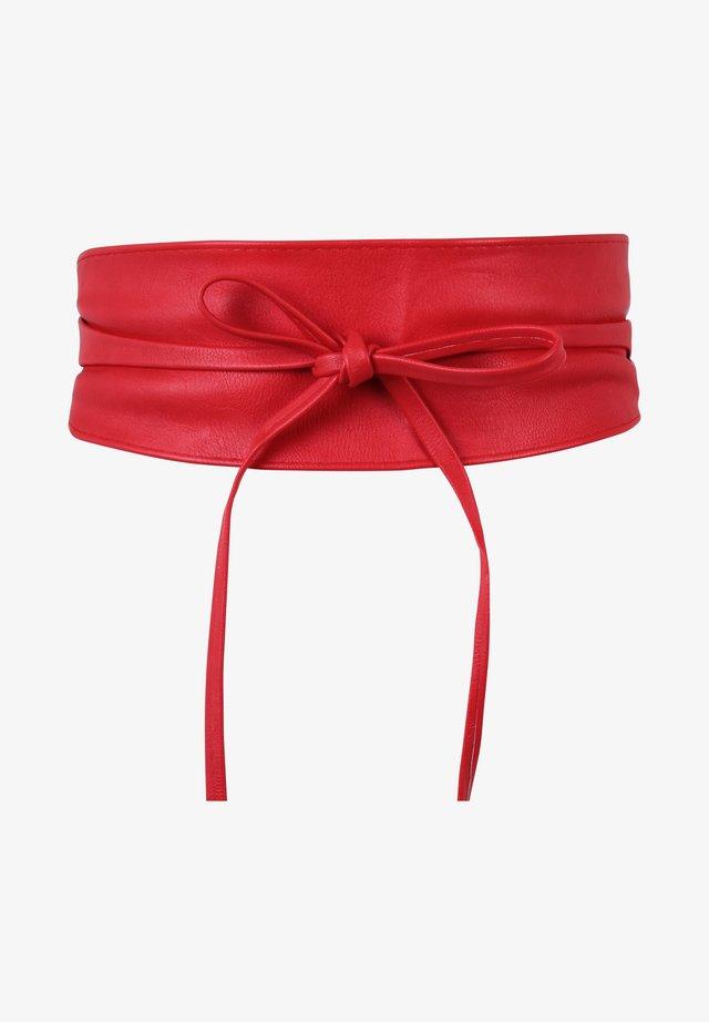 Waist belt - red