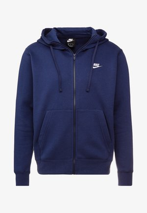 CLUB HOODIE - Mikina na zip - midnight navy/white