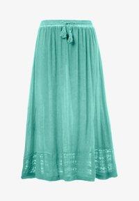 Ulla Popken - Pleated skirt - mottled turquoise - 2