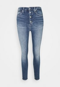 Calvin Klein Jeans - HIGH RISE SUPER SKINNY ANKLE - Jeansy Skinny Fit - mid blue shank - 3