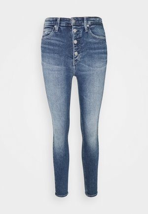 HIGH RISE SUPER SKINNY ANKLE - Jeans Skinny Fit - mid blue shank