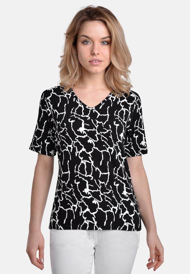 T-shirt print - black white