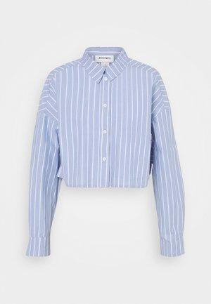 KELIS CROPED  - Blouse - blue dusty light stripe