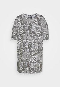 NEW girl ORDER - MONO BOARD OVERSIZED TEE - Print T-shirt - black/white - 4