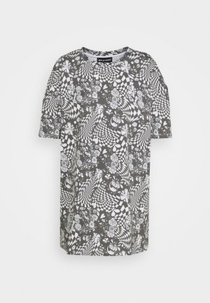 MONO BOARD OVERSIZED TEE - Print T-shirt - black/white