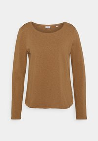 Marc O'Polo DENIM - LONG SLEEVE CREW NECK RELAXED FIT - Long sleeved top - milky coffee - 0