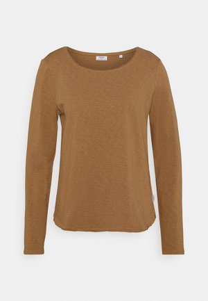 LONG SLEEVE CREW NECK RELAXED FIT - Long sleeved top - milky coffee