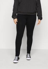 Even&Odd Curvy - Leggings - Trousers - black - 0