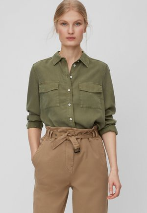 MARC O'POLO BLUSE AUS LYOCELL-TWILL-QUALITÄT - Button-down blouse - soaked moss
