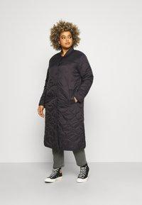 Vero Moda Curve - VMBRIDGETDOLLY LONG JACKET - Classic coat - black - 0