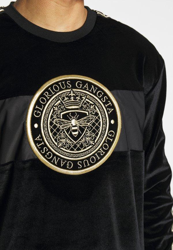 Glorious Gangsta HERVAS CREW - Bluza - black /gold/czarny Odzież Męska YLZT