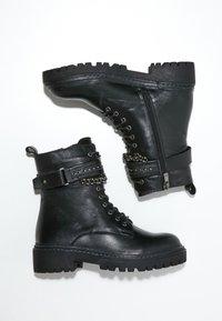 Inuovo - Cowboy/biker ankle boot - black blk - 3